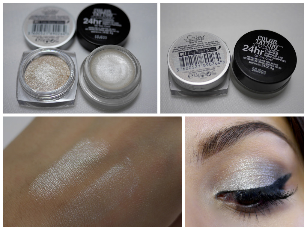 Frosty Winter Eyes With Maybelline Colour Tattoo & L'Oréal Infallible Eyeshadows