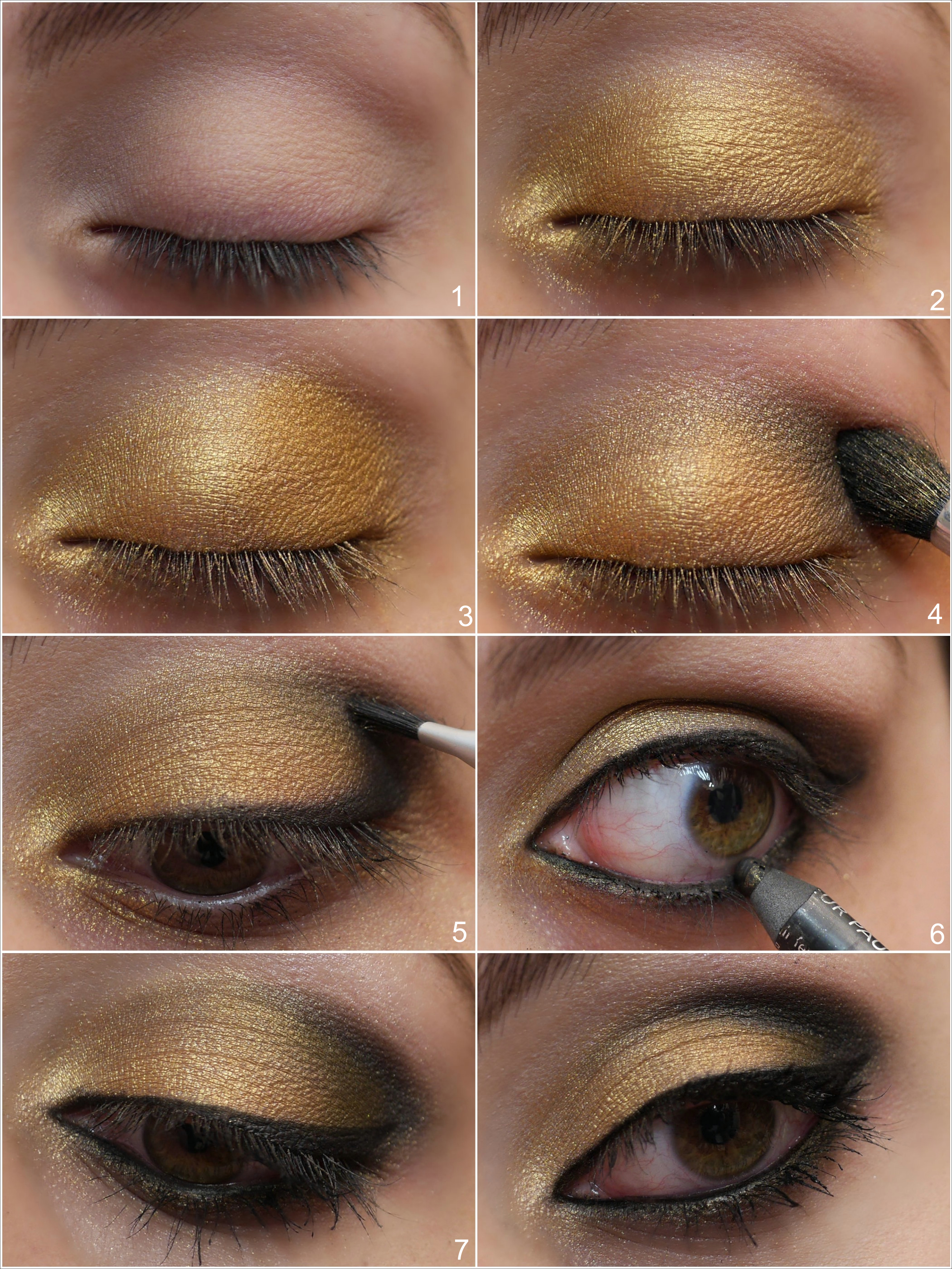 Arbonne Gold & Black Eyeshadow Tutorial