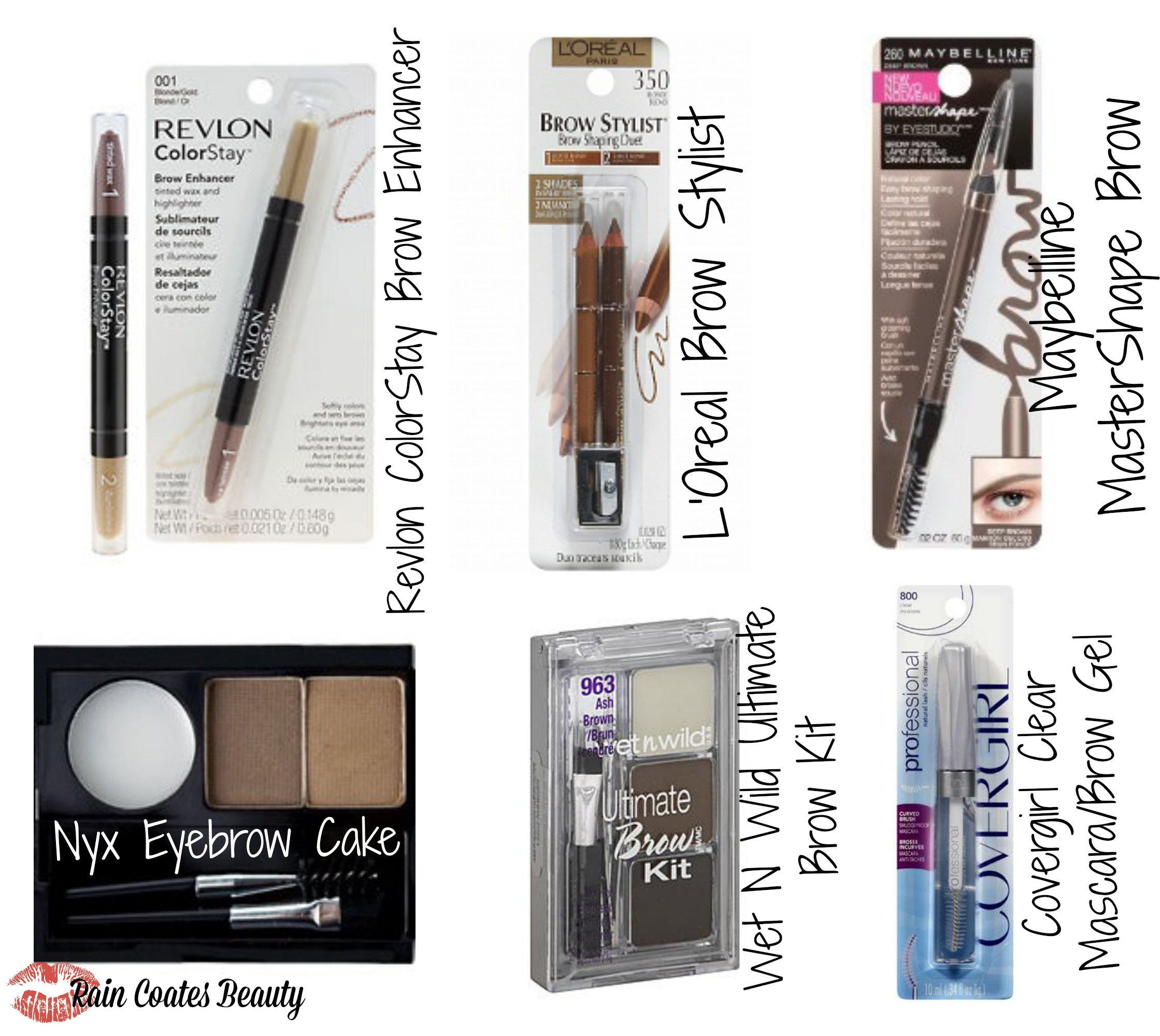 Affordable Eyebrow Products Raincoates Beauty