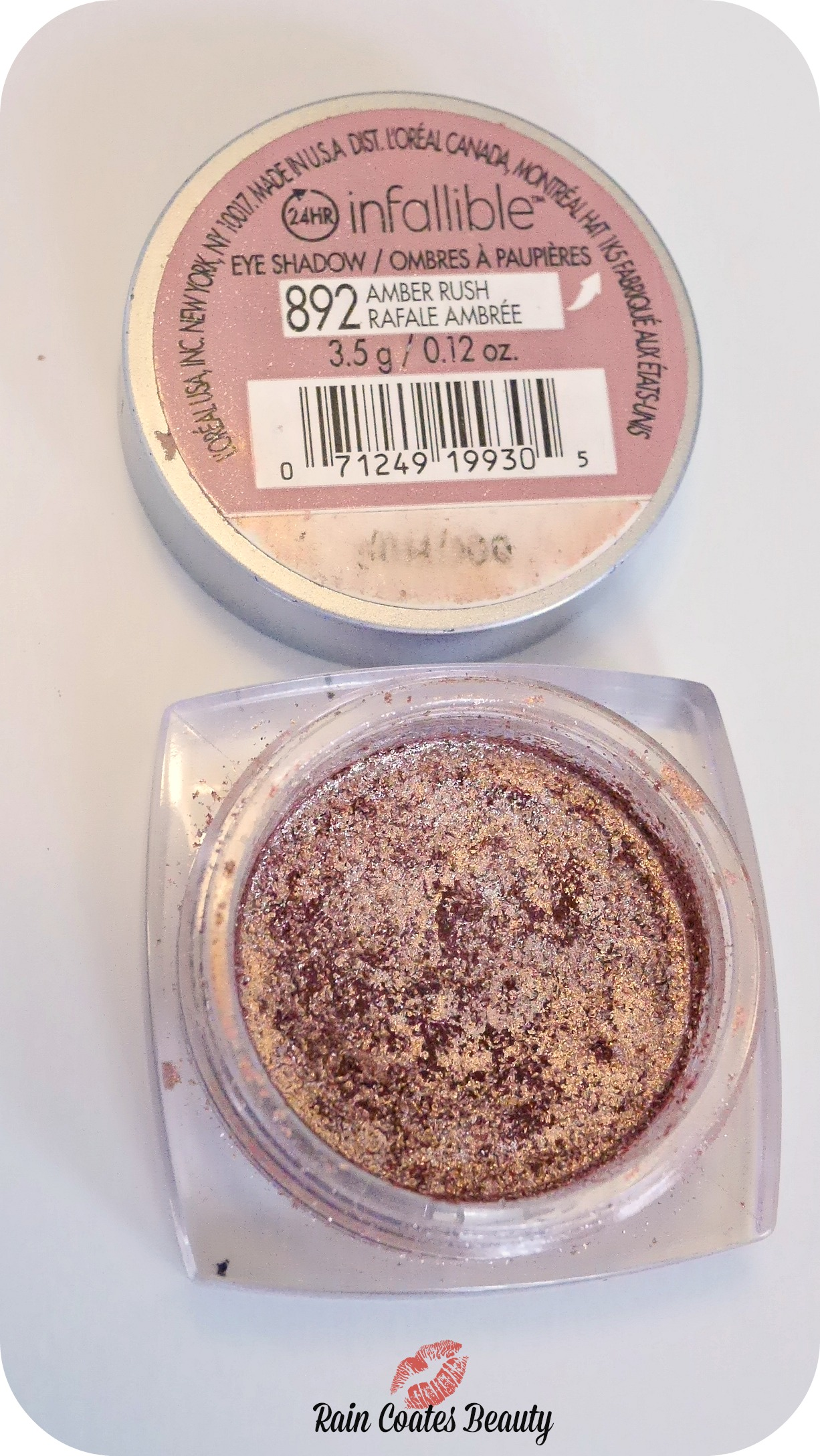 Current Obsession Loral Infallible Eyeshadow In Amber Rush