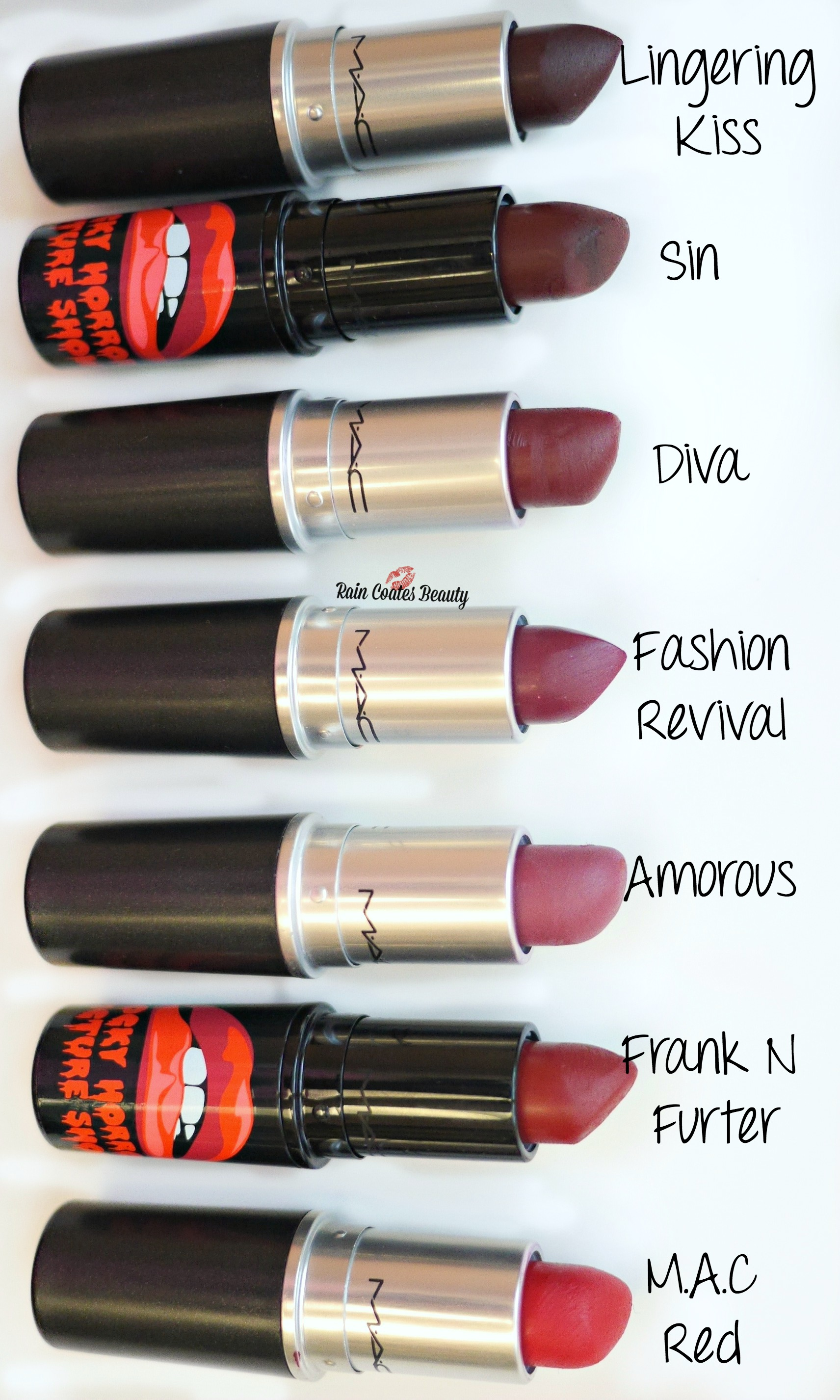 Favourite Mac Lipsticks for Winter