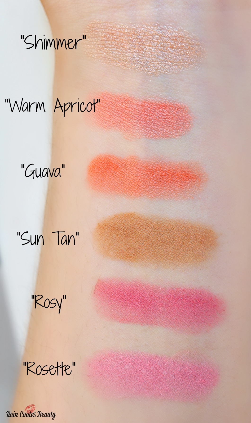 smashbox crush on blush palette swatch