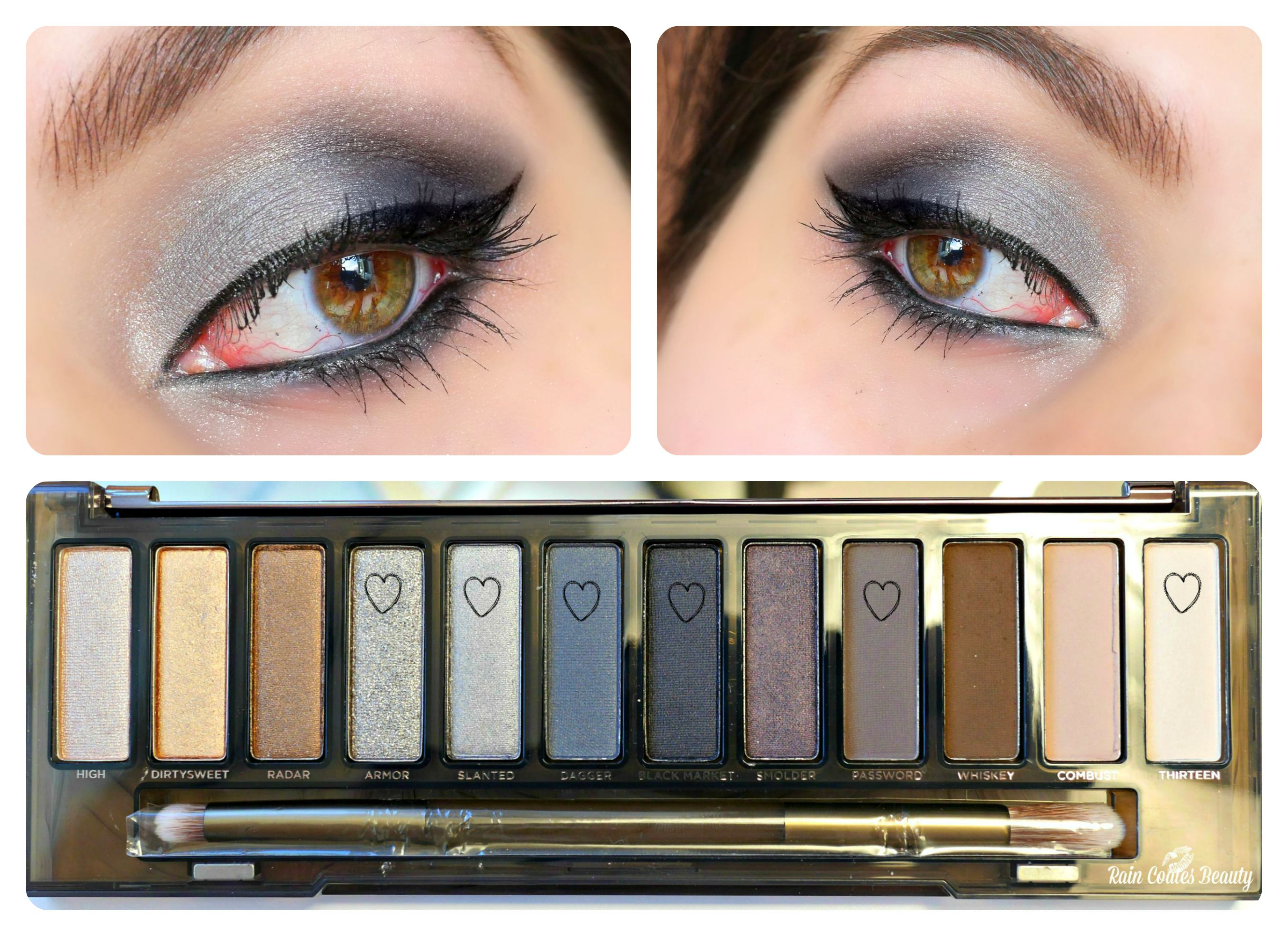 naked smoky look 2 - cool tones colalge