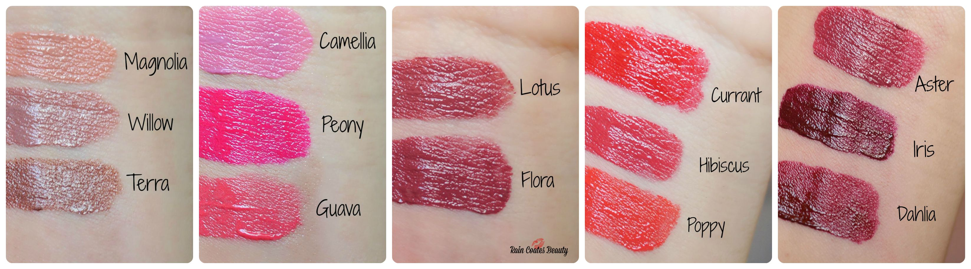 Arbonne Lipstick Collage