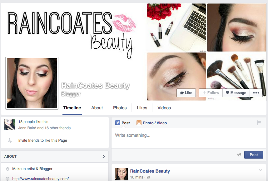 Raincoates Beauty is now on Facebook!