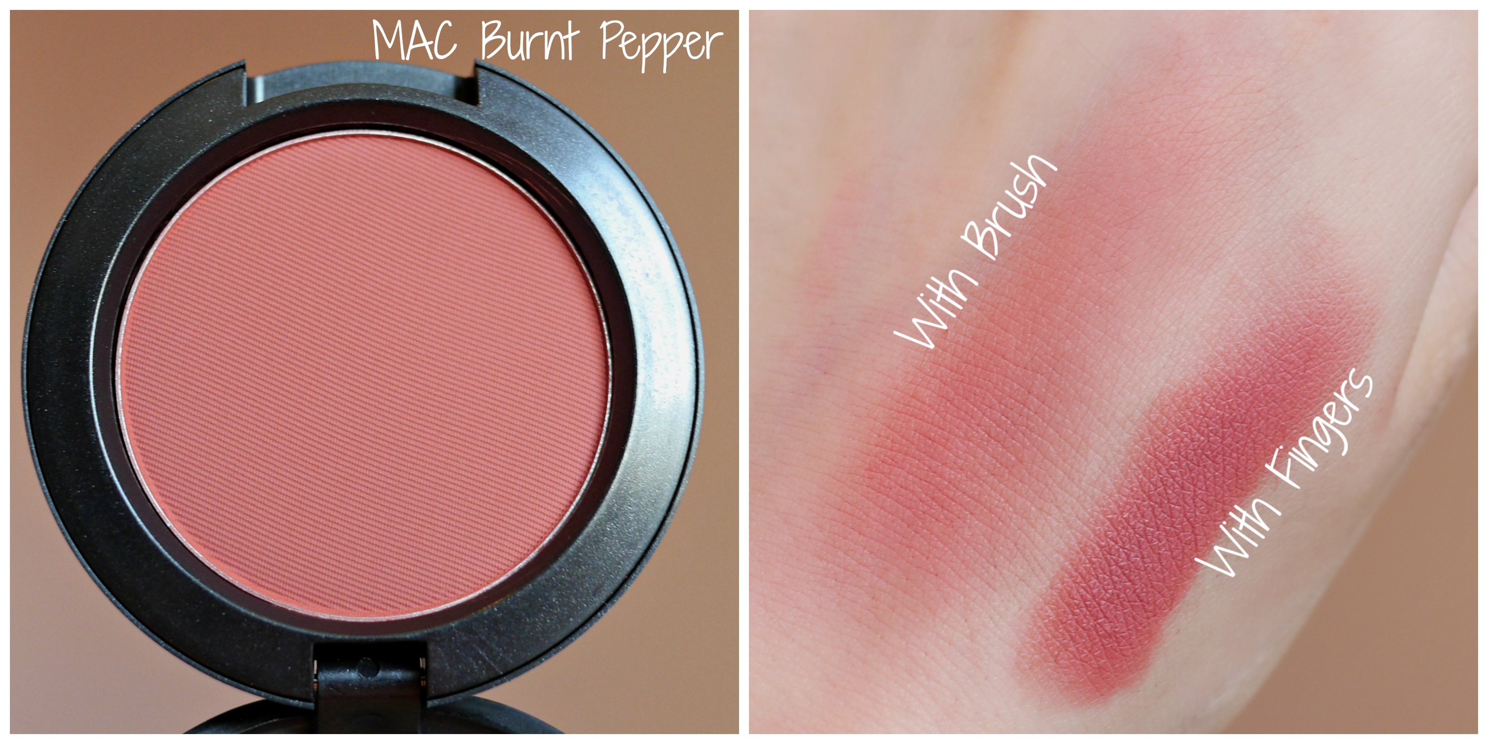 mac blush collage