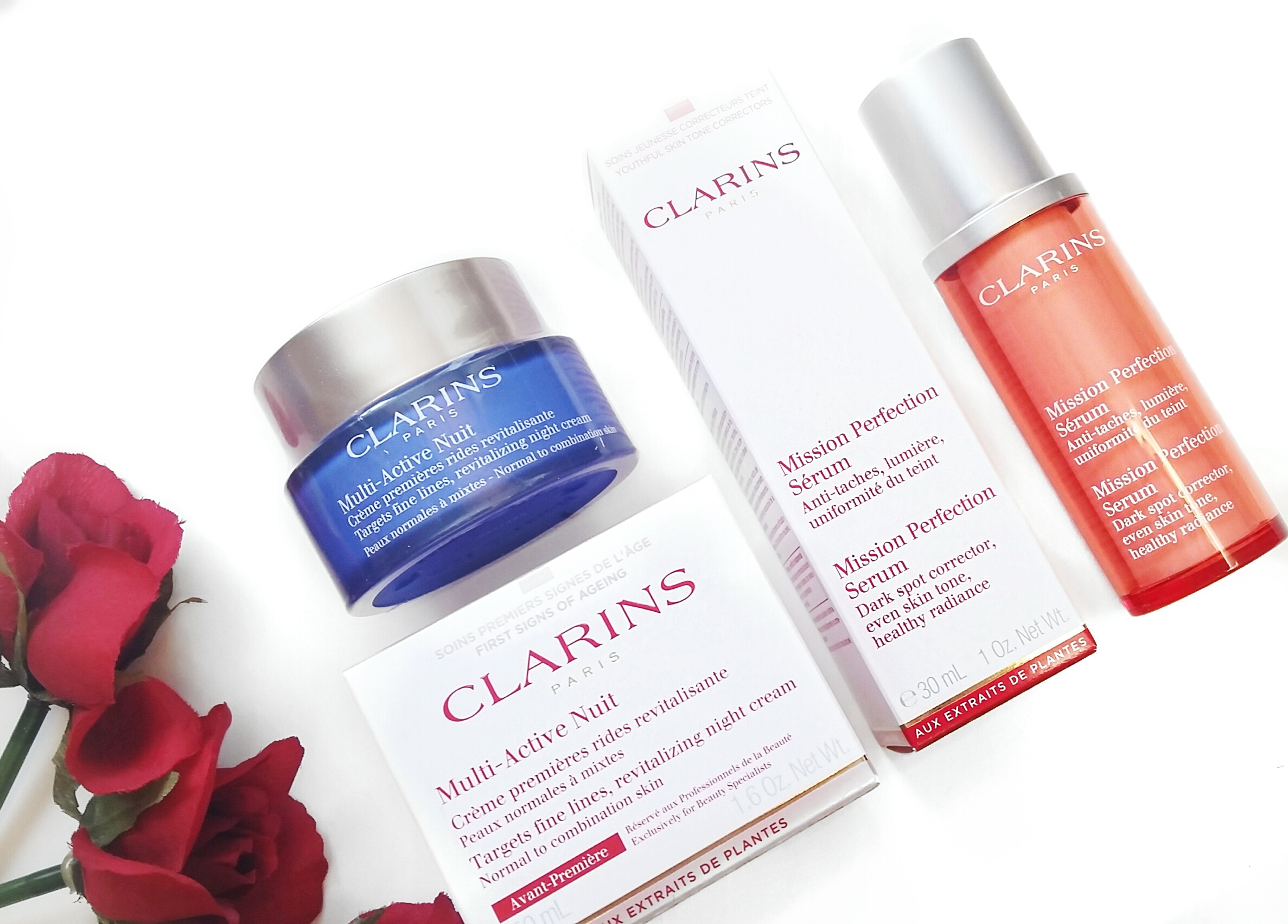NEW Clarins Mission Perfection Serum & Multi Active Cream – and Giveaway!